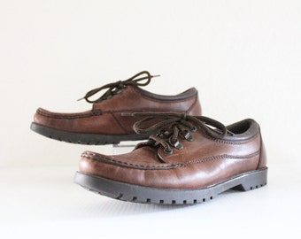 cocoa leather lace ups / 10