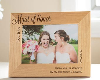 Personalized Maid of Honor Picture Frame: Personalized Maid of Honor Gift, Unique Maid of Honor, Best Maid of Honor, Maid of Honor Thank You