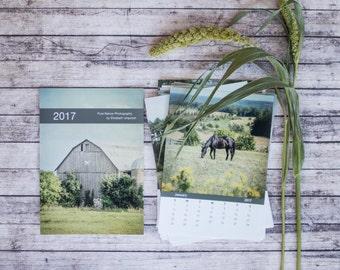 Horse Calendar, 2017 Rustic Calendar, 4x6 Country Desk Calendar, Small Calendar, 5x7 Photography Calendar, Gift for Horse Lover, Equestrian