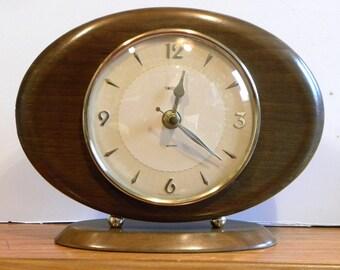 Vintage Smiths Shelf Clock - Recycled 1960's Mantel Shelf Clock