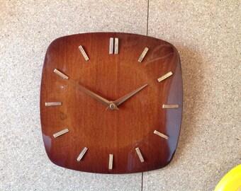 Wall Clock - Square Wooden Clock - Battery Clock