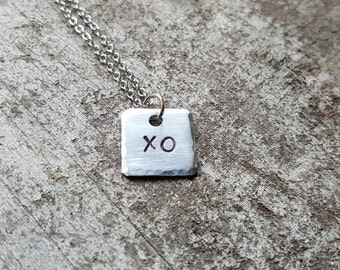 Petite XO Necklace. Hugs & Kisses Necklace. Sweetheart Necklace. Gift For Her. Girlfriend Necklace. LGBT Jewelry. Valentine's Day Gift