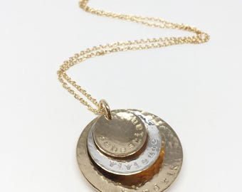 Large Nesting Circles // Mixed Metals // Personalized
