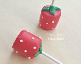 Strawberry Marshmallow Pops (12)