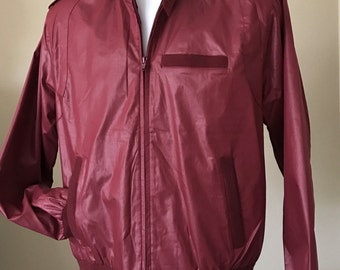 VINTAGE Jacket Members Only Style Spare Time Collection Montgomery Wards Burgundy Men's Size MEDIUM Excellent Condition Looks New!