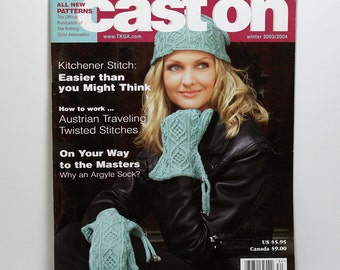 Cast On Magazine, Knitting Magazine, Winter 2003 2004, Knitting Patterns, Sweater Patterns, Classic Knitwear Designs, Collectible Issue