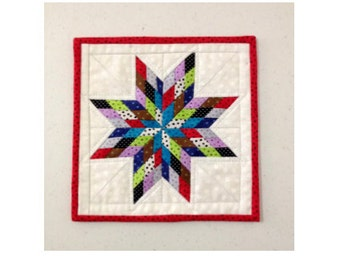 Scrappy Lone Star Mini Quilt - PDF pattern