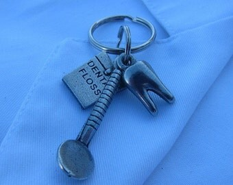 Dentist Keychain for Dental Hygienist and Dentists- Teeth- Dentistry- pediatric dentist