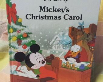 Vintage Disney 1980s Mickey's Christmas Carol hardcover story book