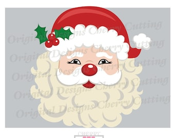 Santa Face SVG,eps,jpg, Christmas Santa Claus SVG, Christmas Silhouette Cut Files, Cricut Cut Files CHSVG11 -Personal and Commercial Use