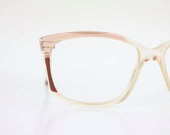 Vintage 70's Layered Cat Eyeglasses Frames