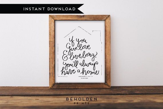 Printable Printable Quotes Housewarming Gift Home Decor