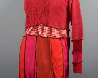 Ready To Ship ,Up-cycled Tunic  S. UK Seller, Ship Worldwide.