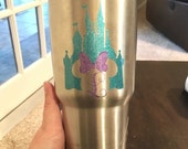 Castle Minnie Mouse Decal - yeti decal - tumbler decal - castle decal - minnie mouse decal