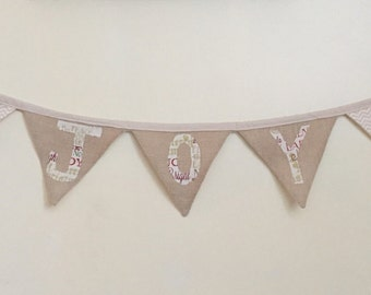 Joy Pennant Banner/Burlap Cotton Banner
