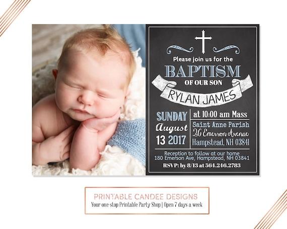 baby boy baptism invitations