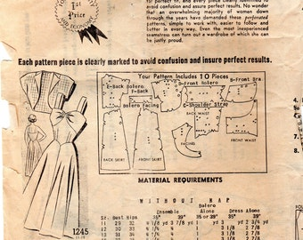 "1960s Women's Sundress or Sleeveless Dress and Bolero Jacket Pattern - Size 14, Bust 32"" - Mail Order 1245"