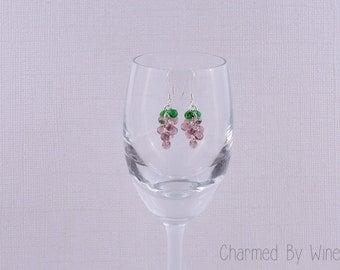 Grape Earrings: Dangle Earrings, Bunch of Grapes, Vineyard Theme, Wine Earrings