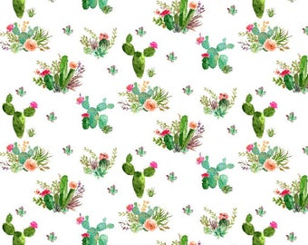 Crib Sheet Floral Cactus. Fitted Crib Sheet. Baby Bedding. Crib Bedding. Minky Crib Sheet. Crib Sheets.