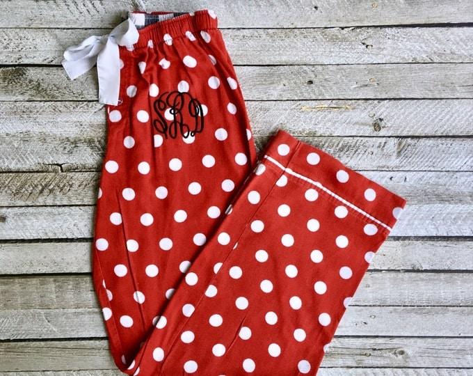 Monogrammed Pajama Pants, Monogrammed gifts, Monogram Pajama Pants, Womens, Christmas Pajama Pants, Camouflage pajamas, Bridesmaid pajamas