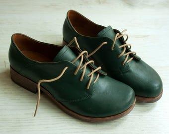 Bottle green women shoes