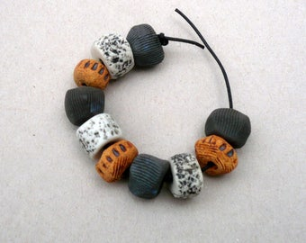 Rondelle Beads ,Multicolor Beads , Rondelle Mix  ,Black And White , Jewelry Supplies