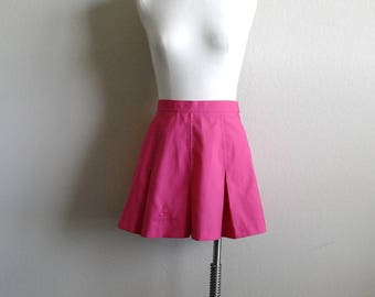 Vintage Le Coq Sportif Skirt, Pink Skirt, Tennis Skirt, Pleated Skirt, Mini Skirt, Womens Skirt, Candy Pink, Athletic Skirt, Made USA, 8