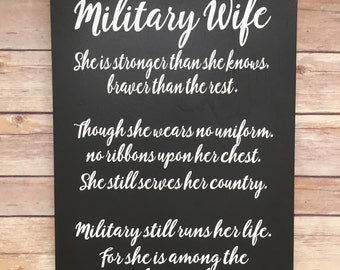 Military wife, gifts for army spouse, Army family, military spouse , military home, FRG gift, military sign