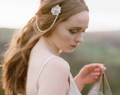 Rose Gold or Ivory Daisy Lace Hairvine/Browband