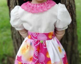 "16"" Doll Clothes Patchwork Skirt  With Blouse Fits A Girl For All Time Dolls--AGFAT"