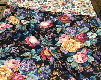 NEW PRICE--Reversible Duvet Cover, Queen Size, Retro Cabbage Roses, Croscill, Beautiful