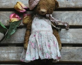 Sarah :) OOAK Vintage Style Sweet Artist Teddy Bear by Natali Sekreta -  Antique style  - stuffed - home decor - gift - Birthday