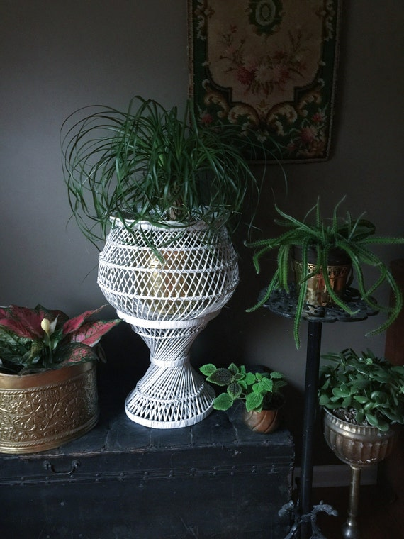 Wicker Plant Stand  Flowers vases plant stand Archival