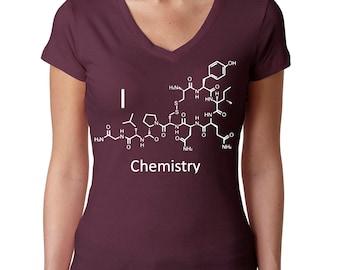 Chemistry shirt for Her - Oxytocin Love Molecule - Chemistry Gift for Her