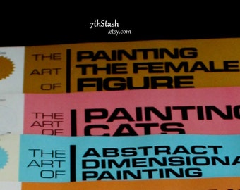 The Art of Painting - Grumbacher Art Series - 3 Vintage Books - Painting The Female Figure - Cats - Abstract Dementional