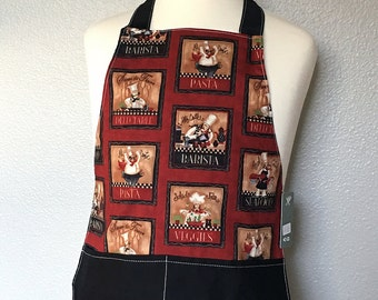 Childrens Apron -- Italian Kitchen -- Ready to Ship