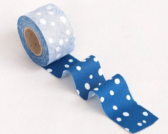 Simple Bubble Blue 4 cm Cotton Bias - 10 Yards by the roll 94391