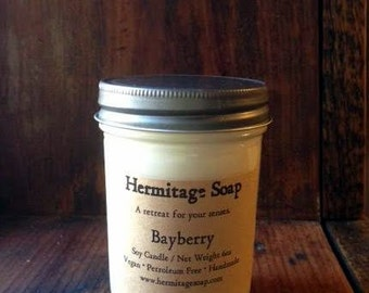 Bayberry : Soy Candle, Candle, Container Candle, Bayberry soy candle