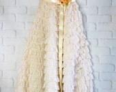 tea stained ruffled tea length wedding dress by mermaidmisskristin