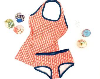 Seahorse Panties, Organic Underwear, Organic Panties, Panties, Knickers, Undies, Womens Underwear, Organic Boyshorts, Lingerie, Ecotex 100