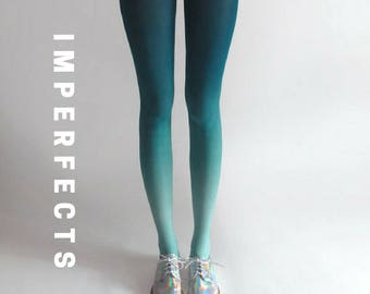 BZR Ombré tights in Mermaid - SALE