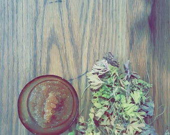 All Natural Body Scrub . Oats, Milk, Coconut, & Honey
