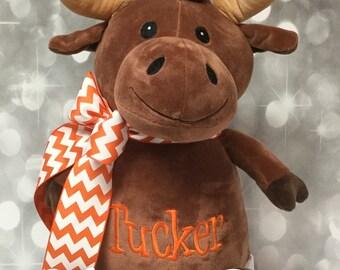 Jumbo Personalized Brown Mohawk Moose Stuffed Animal