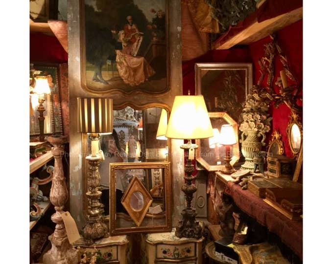 The French Room Photo - French Vignette - Antique Shop Still Life - theRDBcollection - Renee Dent Blankenship