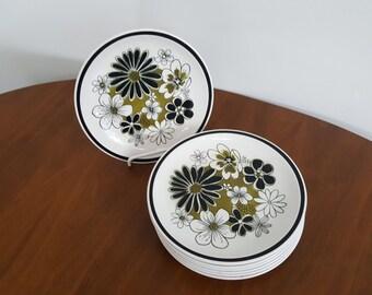 Set of 7 Leilani by Mikasa Cera-Stone Salad Plates