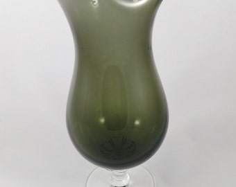 "Sasaki Hawthorn Martini Mixer, Grey or Black Smoked Crystal, 10"",  Hand Blown, Made in Japan, Collector Item"
