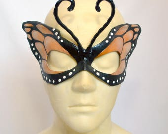 Monarch Butterfly Wing Half Mask Masquerade Fancy Dress Original Cosplay Mardi Gras