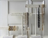 ONE Shabby Chic Chippy Square T-Bar - Tall Necklace / Necklace / Bracelet - Jewelry Display - Jewelry Storage - Quantities Available