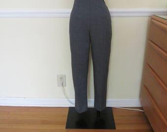 "Fantastic Vintage 1950s 50s Grey Cigarette Pants Clam Digger -Deadstock/Nos- High Waist 28""-30"" -Bad Girl-Pinup-Rockabilly-Bombshell-Vixen"