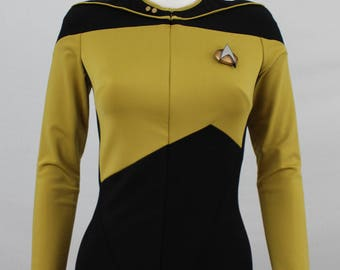 Women's TNG jumpsuit - Star Trek: The Next Generation costume, Starfleet uniform, size XS/S